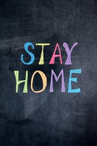 Stay Home message