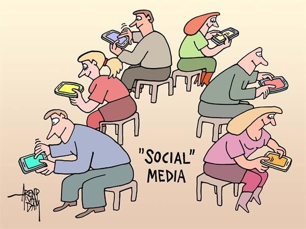 """""""Social"""" media cartoon"""