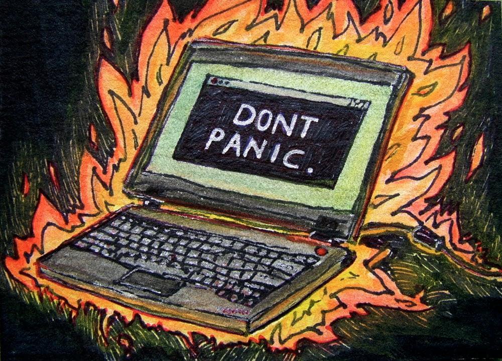 Flaming Computer