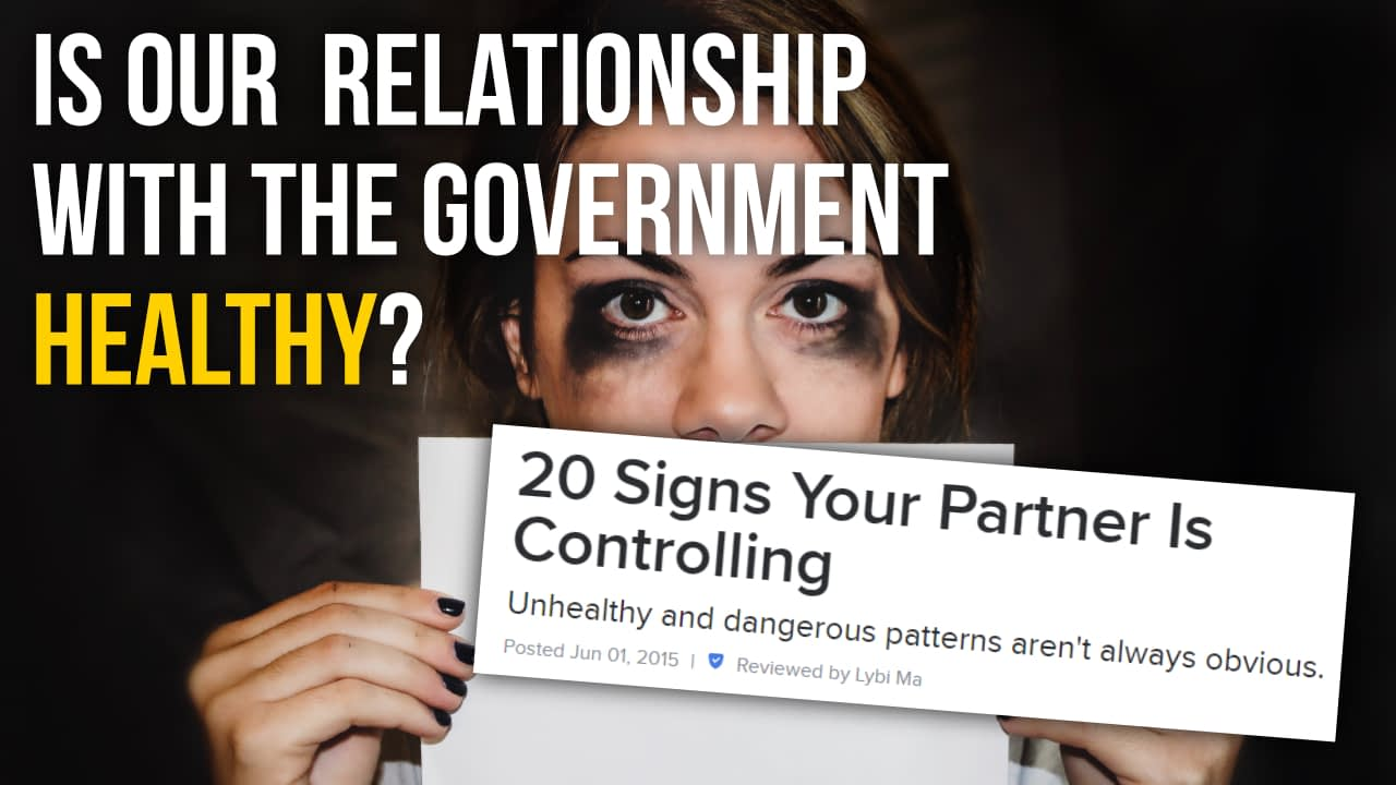 Is our relationship with the government healthy?