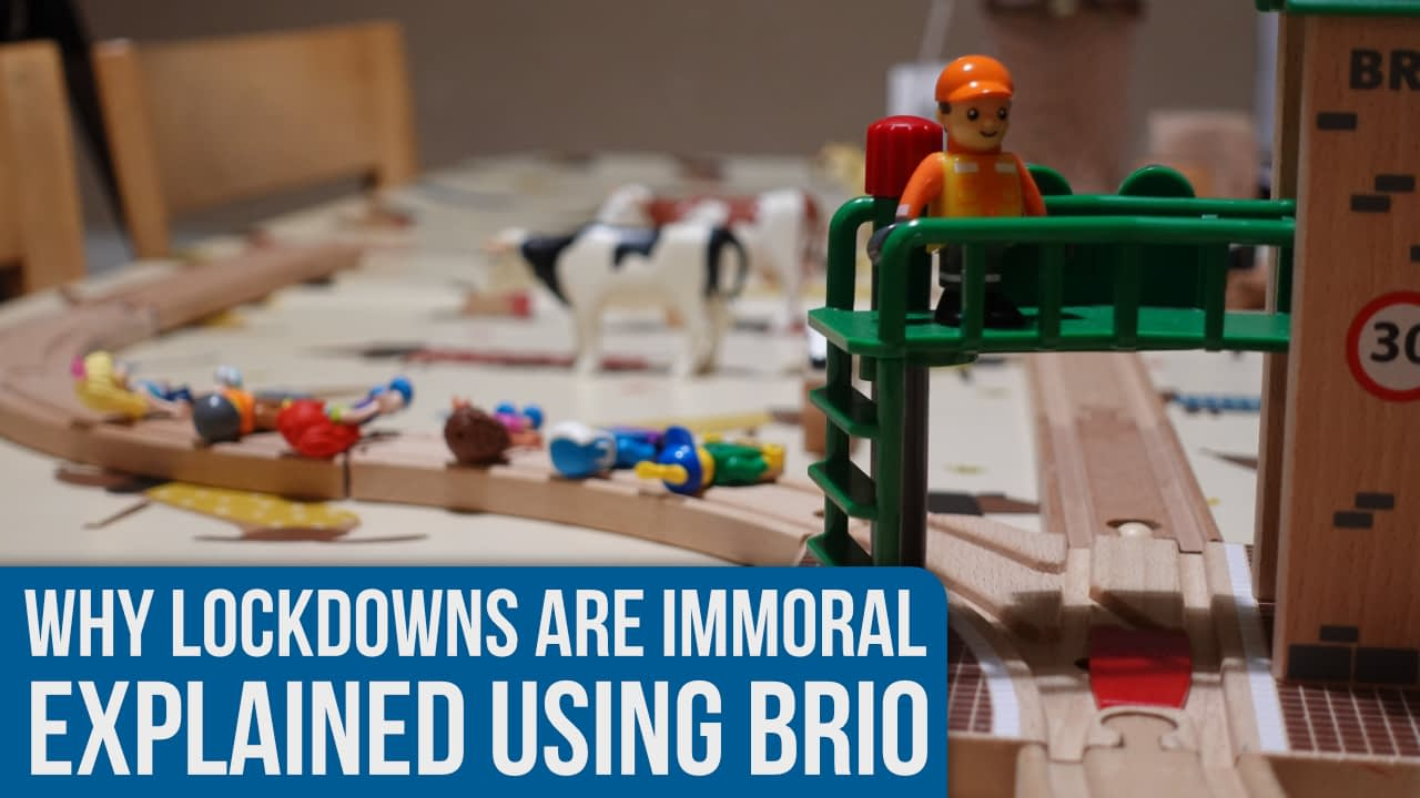 Why lockdowns are immoral… explained using BRIO!